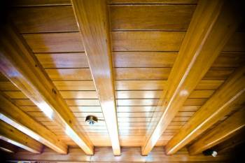 Holzpaneele Wand Streichen Zuhause